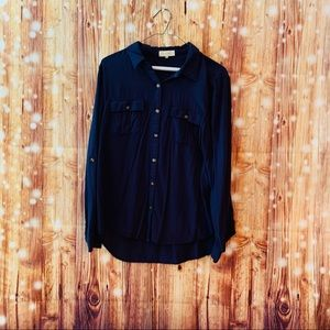 Love notes navy blouse size large